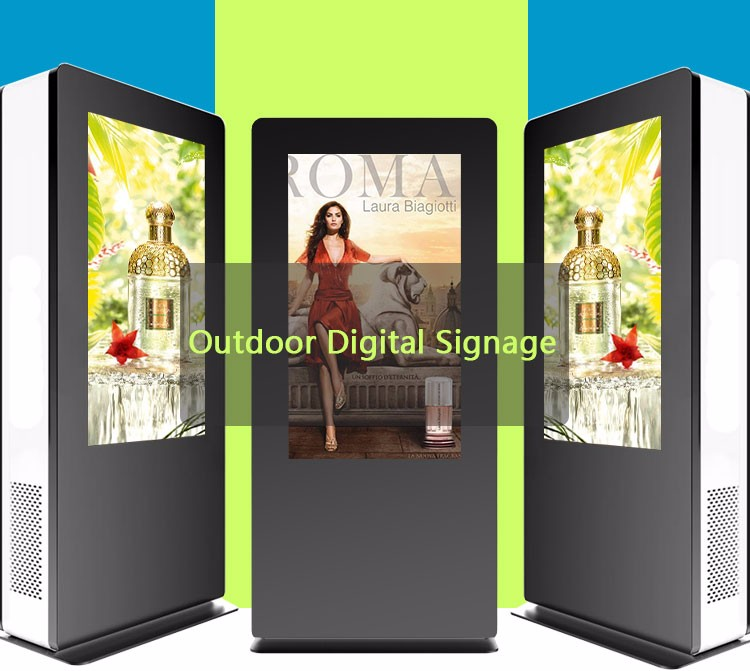 42 inch real 1080P outdoor market free lcd advertising player digital signage display stands floor standing kiosk