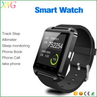 Original high quality multi language version bluetooth 4.0 U8 smart watch mobile phone
