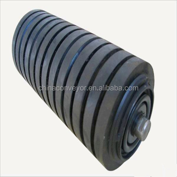 Rubber lagging conveyor roller(manufacturer)