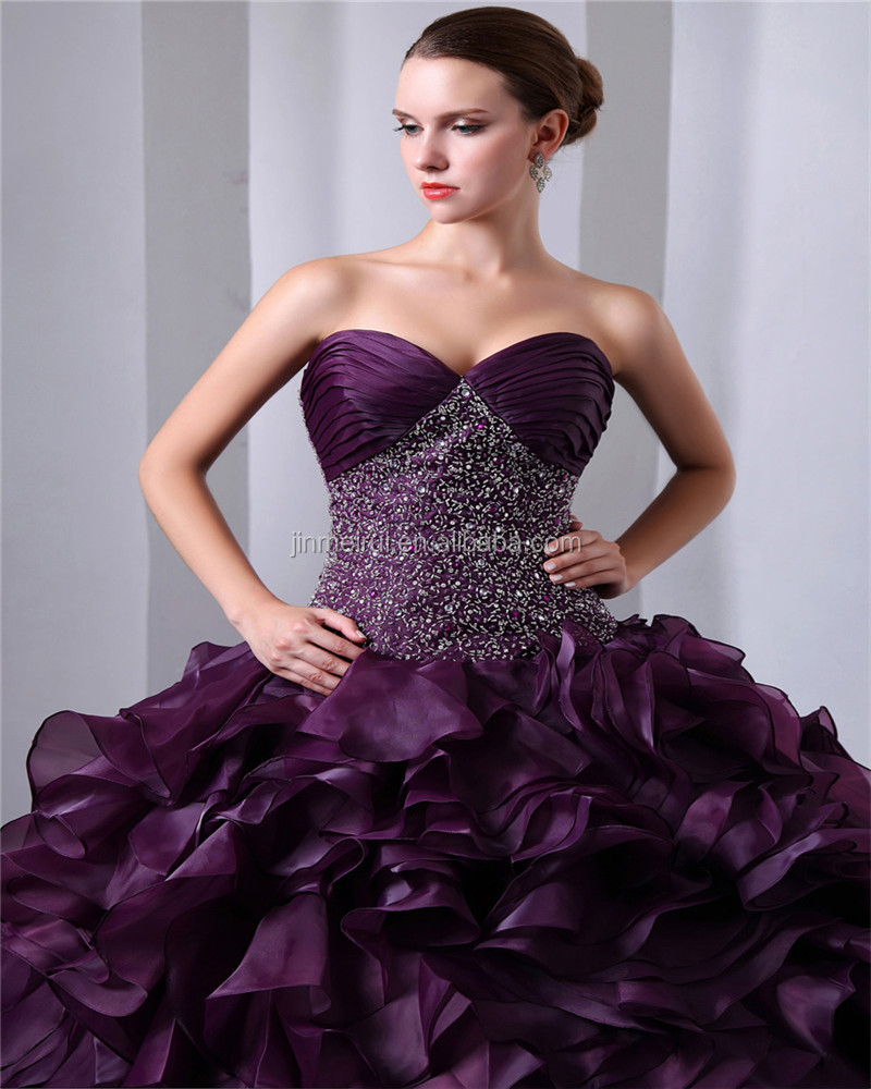 Sweep Train Lace-up Sweetheart Sleeveless Evening Gowns Piping Beaded Sequins Quinceaneras Dress