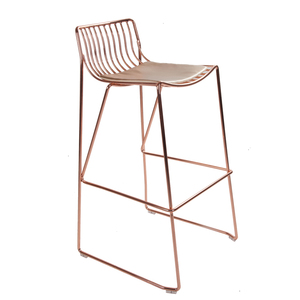 Outdoor furniture iron rose gold wire chairs