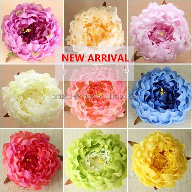 Artificial peony flower head floral Wedding Decoration