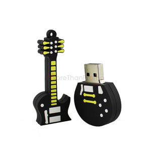 Shell Novelty Handy Giveaways Guitar USB Flash Drive Pendrives Music Lover Promo USB 1GB 2GB 4GB 8GB 16GB 32GB
