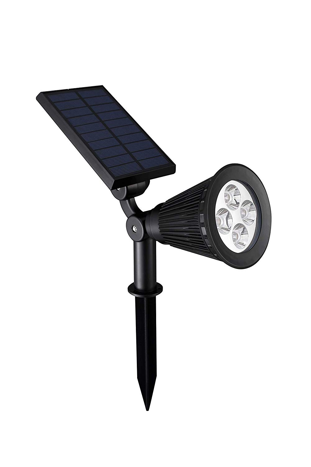 Lohasland Solar Lights Outdoor 2-in-1 Waterproof Landscape Lighting Spotlight Wall Light Auto On/Off for Yard Garden Driveway Pathway Pool White Light One Pack(Free Running Armband Included)