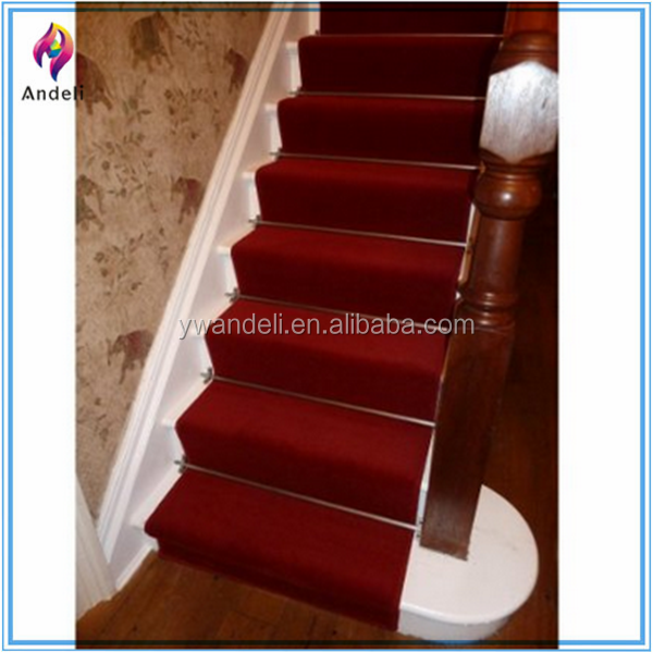 Plain Red Long Hall Stair