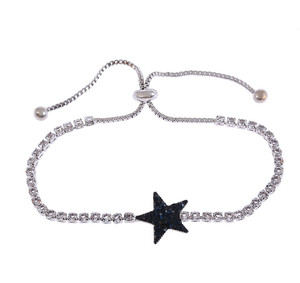 Wild Pentagram Bracelet Metallic Crystal Bracelet Creative Party Jewelry Custom Wholesale