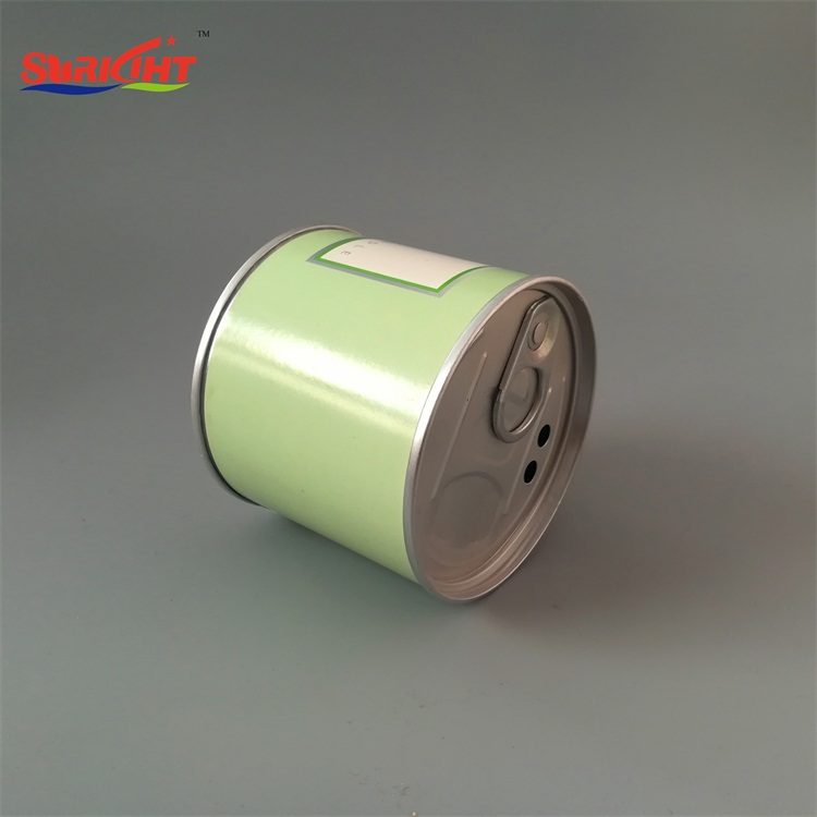 Alum Tea Can Custom Sticker Tin Candle