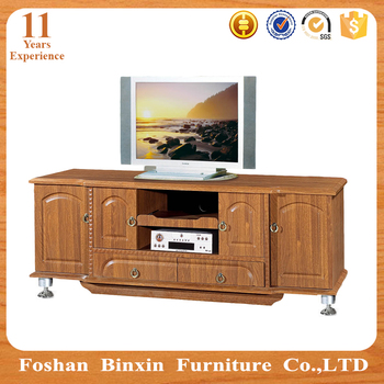 Wooden Led Tv Stand Furniture With Showcase