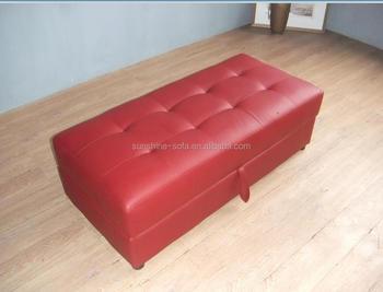 Leather Sofa Stool & Ottoman With Storage - Buy Leather Ottoman ...