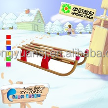 Fold wooden snow sled for adults made in China