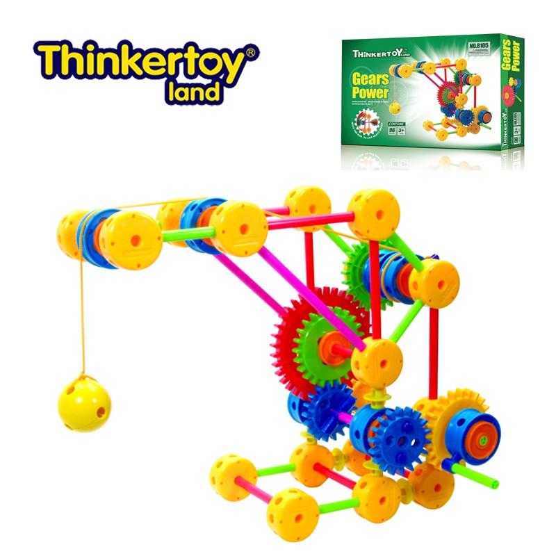 Thinkertoy Universal Craftsmen Gears Power Blocks Child Advance ...