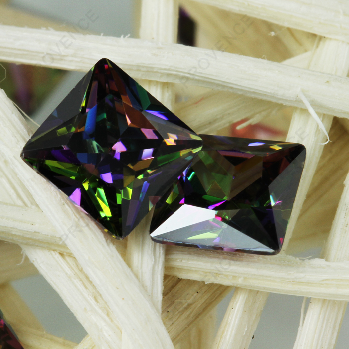 Square cut rough gemstone factory price synthytic CZ diamond