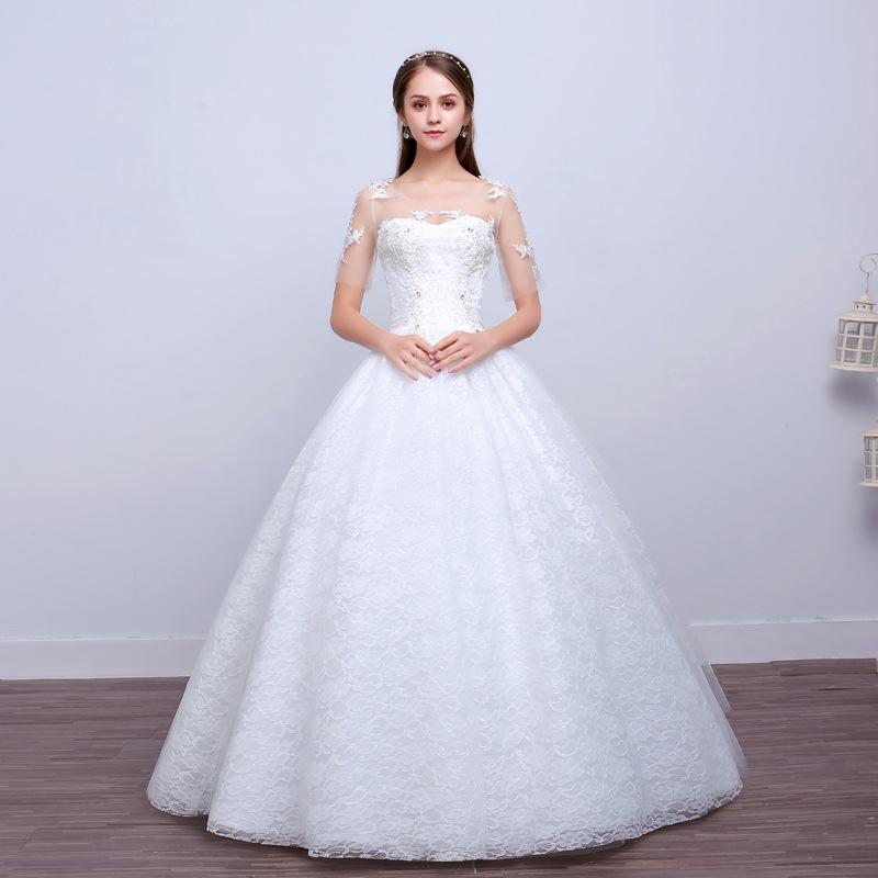 Sweetheart Neckline Sleeve Wedding Gown, Sweetheart Neckline Sleeve ...