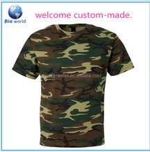 Big World factory OEM custom , 2015 wholesale women camouflage softextile t shirt