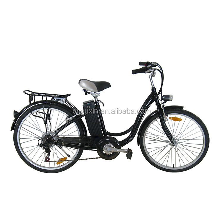 "Classic 26"" 250w li-ion battery green city electric bicycle / electric bike / e bike with pedals for adults"
