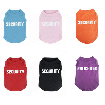 Lovoyager pet clothing blank dog vest customized plain summer dog t shirt for printing