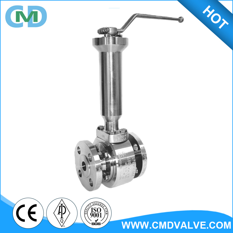 Float Flanged Low temperature Handle type PTFE LCB Ball valve in china