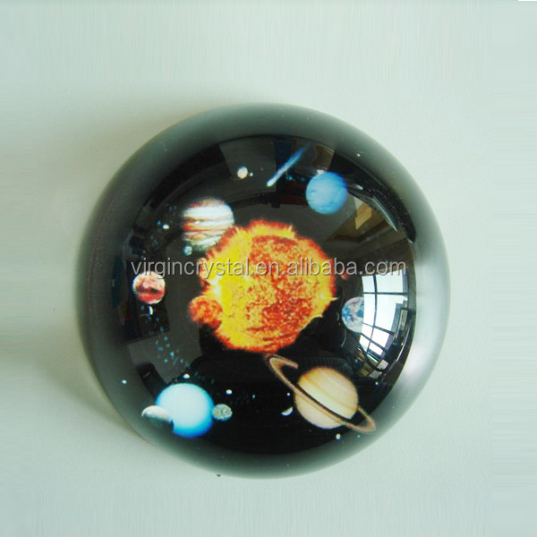 Novelty crystal blank dome paperweight customized corporate gift
