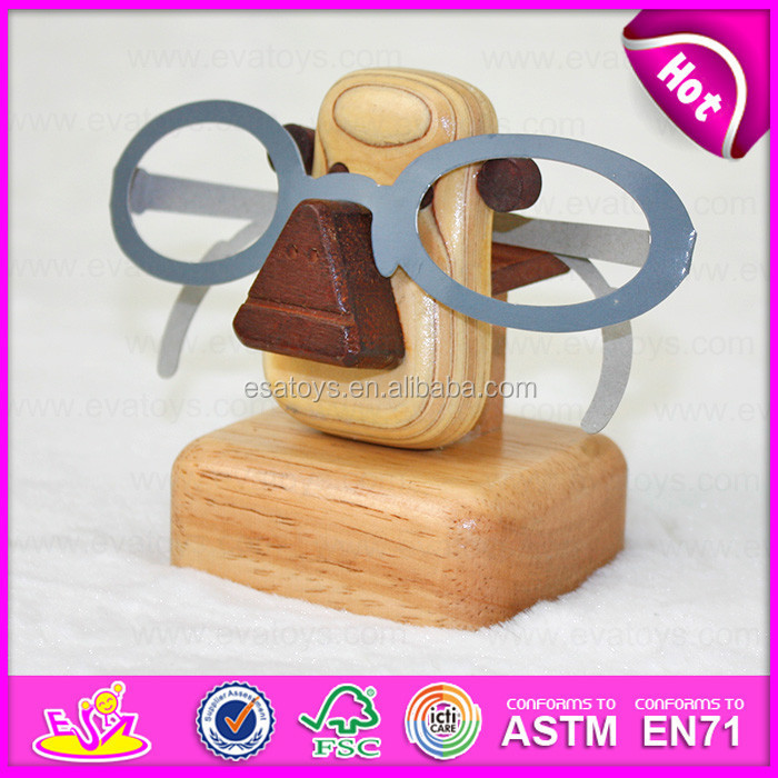 2015 Home decoration Animal eyeglass holders,wooden crafts animal style eyeglass holder,Christmas eyeglass holder toy W02A091