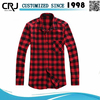 Custom 100% Cotton Check Flannel Shirt for Man