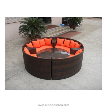 Circle Hand Sofa Chair New Design Rattan Without Backrest