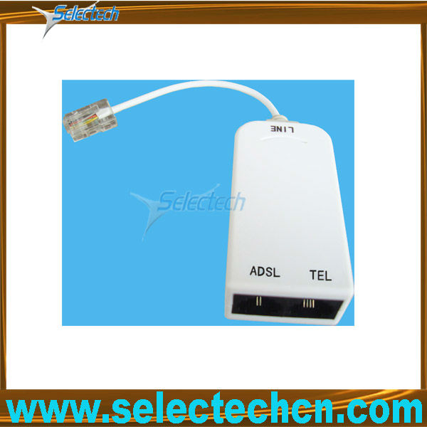 US Jack To US Plug ADSL Splitter With Cabel