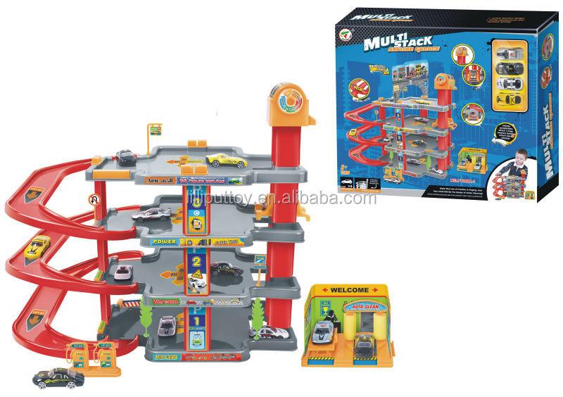 jouets piste skyline parking garage play set avec 4 pcs petite voiture pour enfants autres. Black Bedroom Furniture Sets. Home Design Ideas