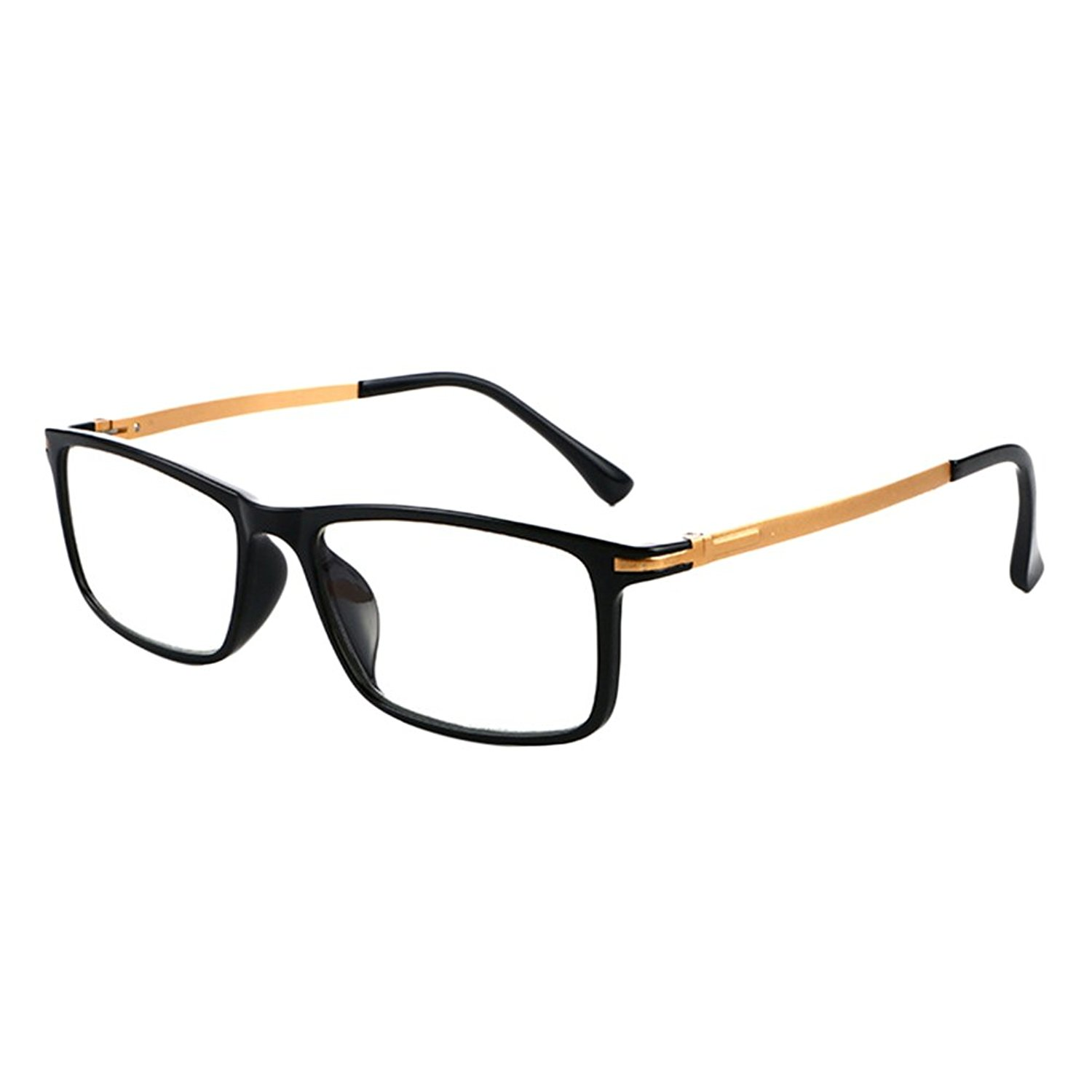 70bee3a87d0 Get Quotations · Zhhlinyuan Black Frame Eyeglasses Reading Glasses for Men  Women 1.5 2.0 3.50 4.00