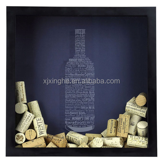Wholesale Top-loading Wine Cork Collector Shadow Box