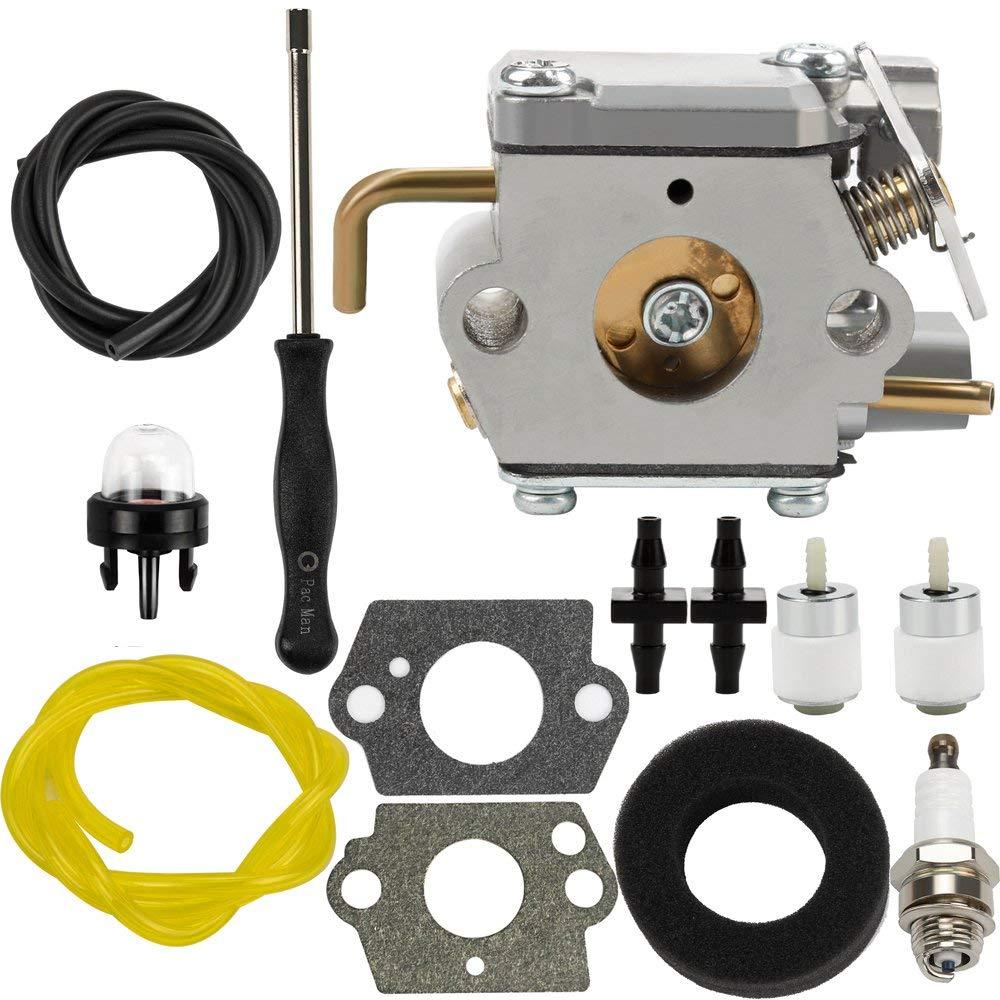 Get Quotations · Dalom 791-182875 Carburetor w Air Filter Fuel Line for  Bolens BL150 BL100 BL250 Trimmer