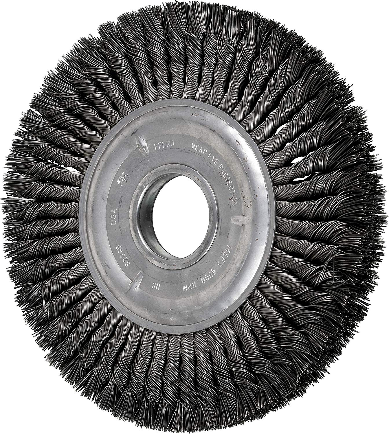Carbon Steel Wire 1-1//2 Diameter 3//8 Arbor Hole Pack of 10 PFERD 81517 Crimped Wheel Wire Brush 0.012 Wire Size 20000 RPM