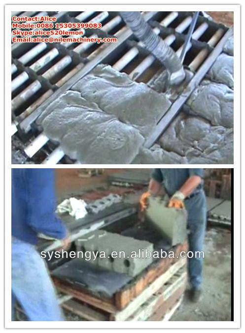Interlocking cellular lightweight concrete block mold clc for Foam concrete forms for sale