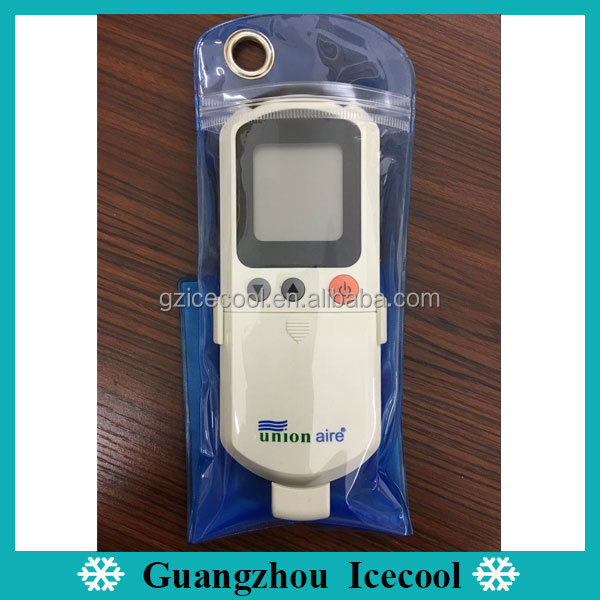 Bag packing Union aire remote control for air conditioner universal with wall holder bracket