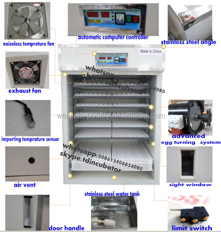 Agricultural Equipment Cheap Incubator Cabinet Hatching 1000 Eggs ...