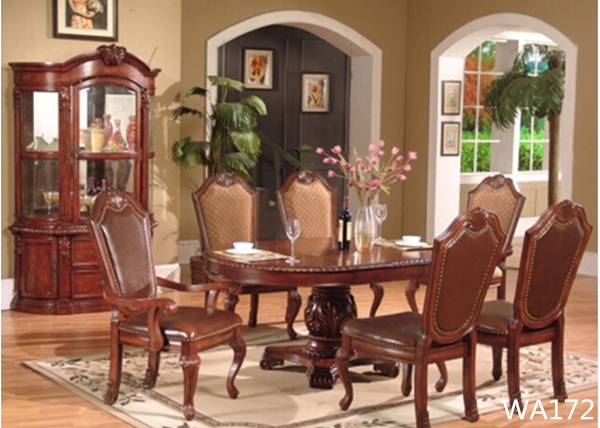 Wedding Furniture Wooden Dining Table Set6 Seater Dining Table And