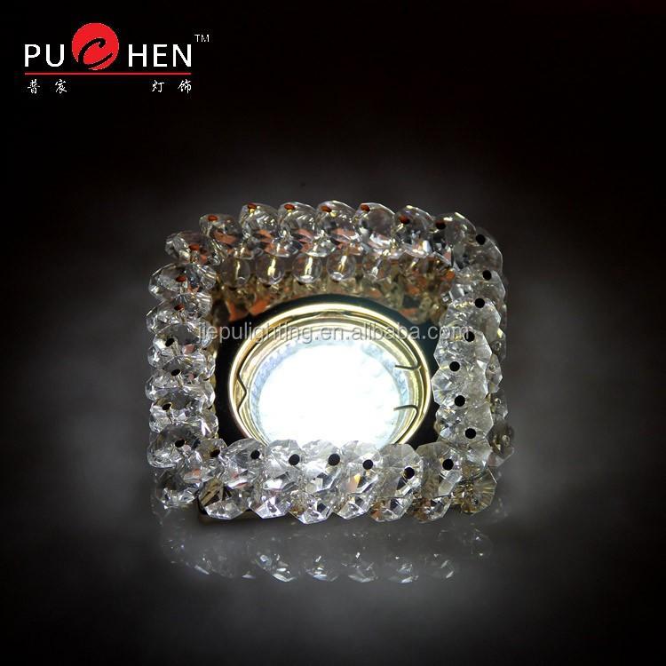 Crystal Ceiling lighting beads connected halogen LED lamps MR16 GU10 Model BS303