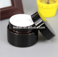 Cosmetic Packaging Empty Black Serum Bottle 30ml 50ml Lotion Glass Cosmetic Bottle/Jar/Container