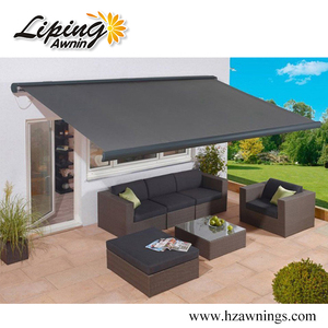 Motorized Retractable Pergola Awning With Dooya Tubular Motor
