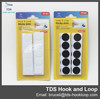 blister pack 16/19/20mm adhesive hook and loop fastener hook and loop dot