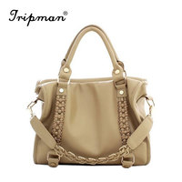 Tripman Fashion European and American Women Casual Tote Bags Soft Leather Shoulder Bags Grade Ladies Handbags Wholesale Price
