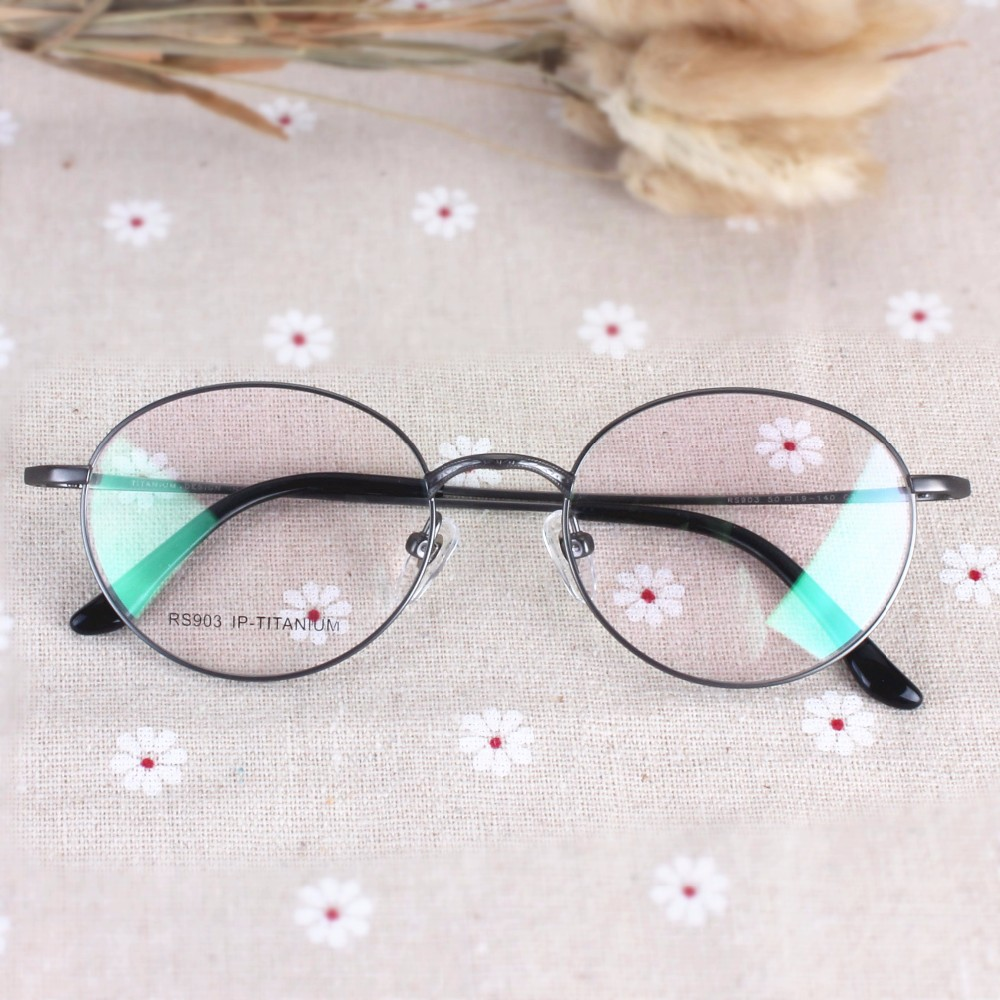 7315177ae9 2019 Wholesale Chashma New Titanium Round Eyeglasses Optical Vintage ...
