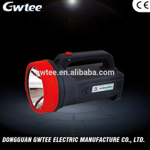 GT-8516 selling 10w black dual light 9000 MAH portable led spotlight