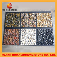 white round polished pebble stone bath mats for garden
