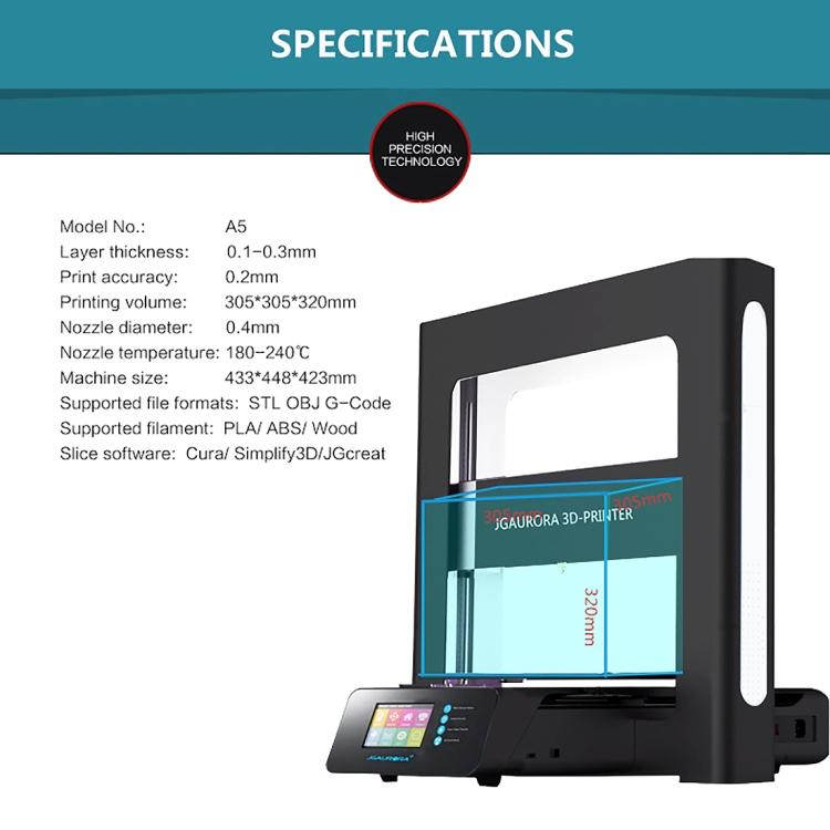 Jgaurora A5 Desktop High Precision Metallplatte Rahmen ...