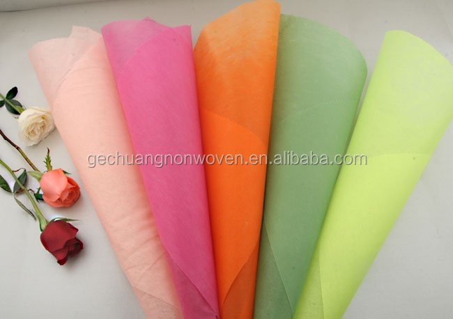 Graceful flower wrapping sheet/100% polyester nonwoven fabric flower wrapping paper roll