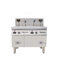 Stainless steel double commercial french fries machine cooking/fryer electric