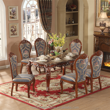 Wonderful European Design Classic Royal Home Furniture Solid Wood 1.6m Long Dining  Room Furniture Using Dining
