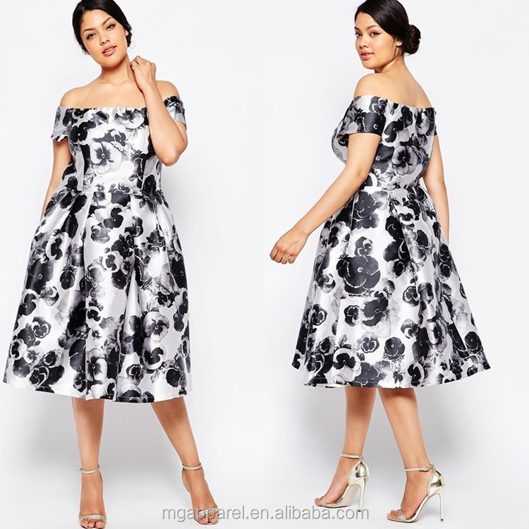 99bbdbf5e Hot selling plus size women clothing ,women party wear off shoulder print plus  size dress