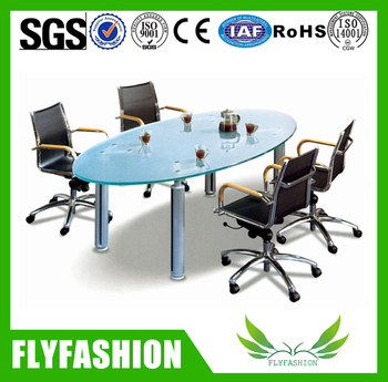 Modern Office Glass Top Conference Deskoffice Small Glass Meeting - Small glass conference table