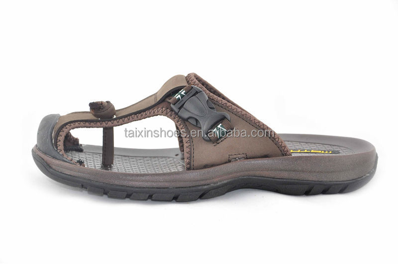 2014 Jinjiang comfortable men leather sandals and slippers